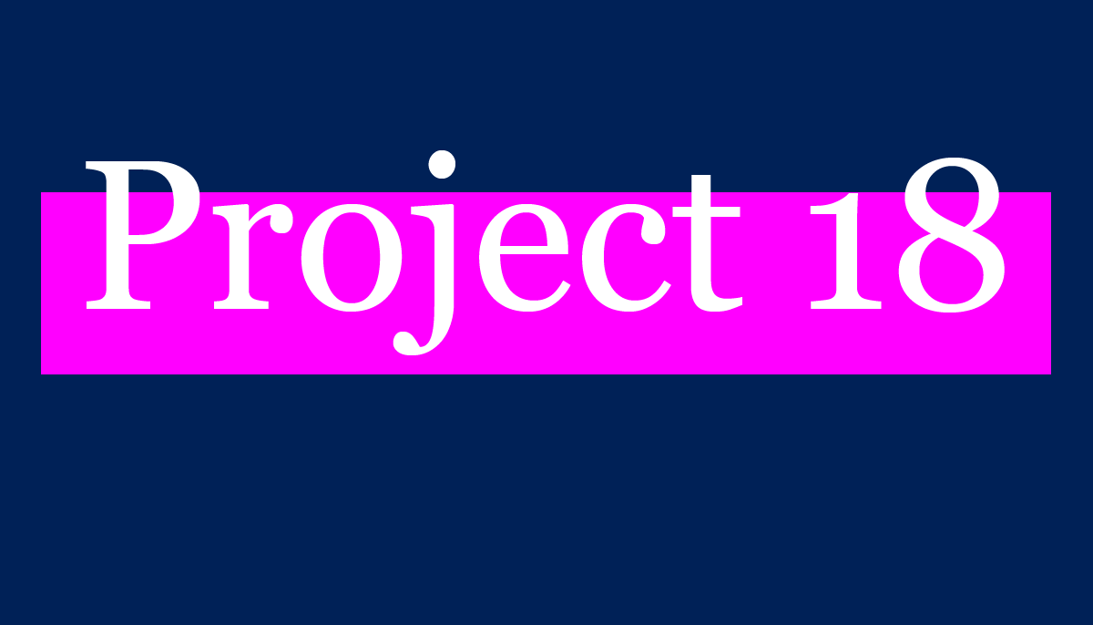 Project 18 logo